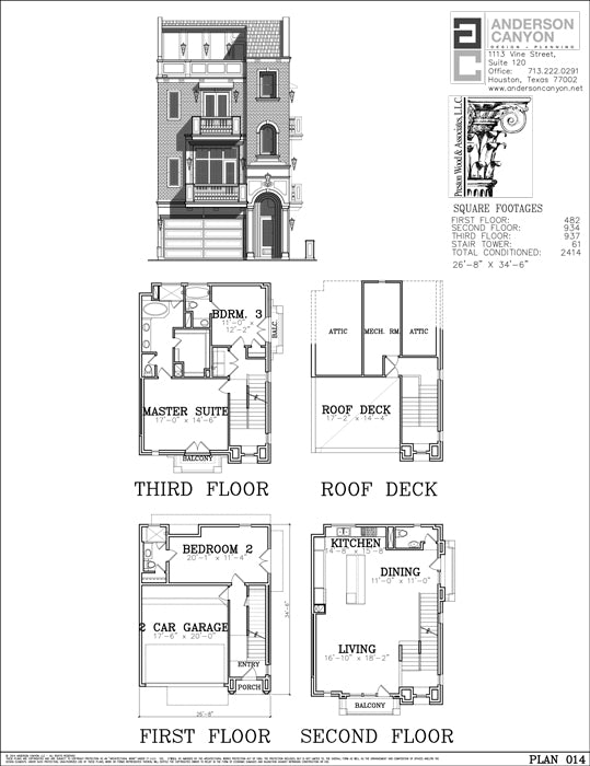 Townhouse Plan E4105-012 & 014