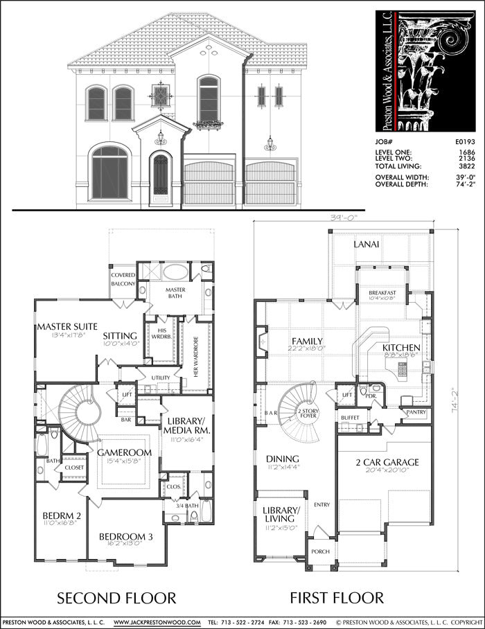 Two Story House Plan E0193
