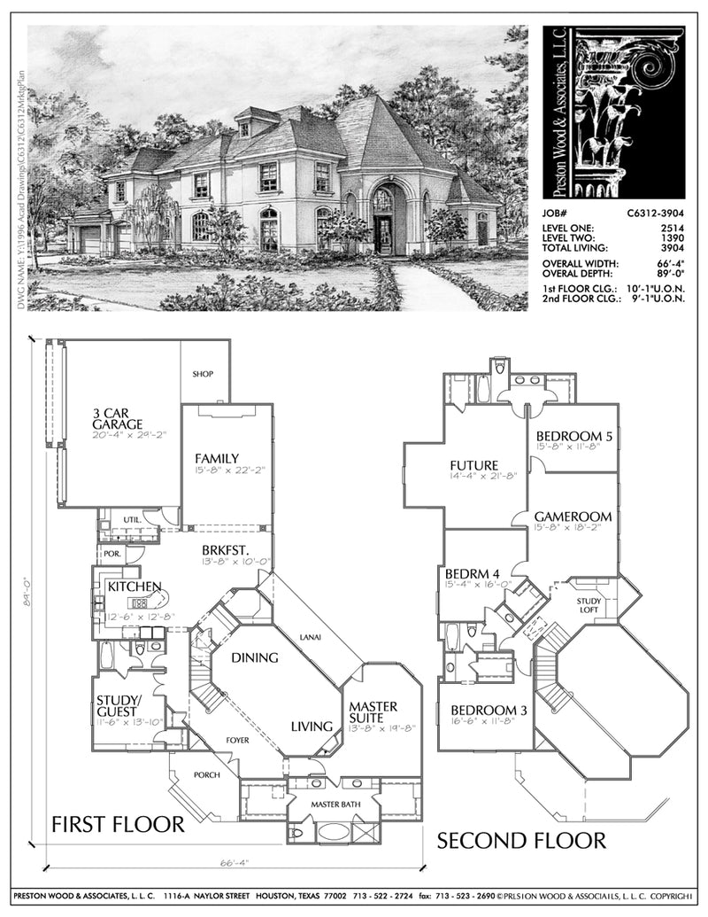Eclectic Style House Plan C6312