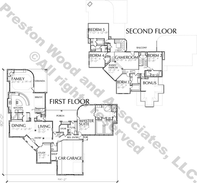 Two Story House Plan C7075
