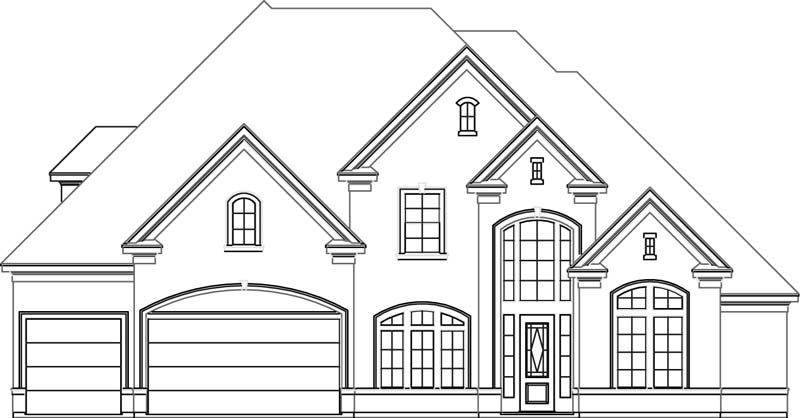 Two Story House Plan D0282