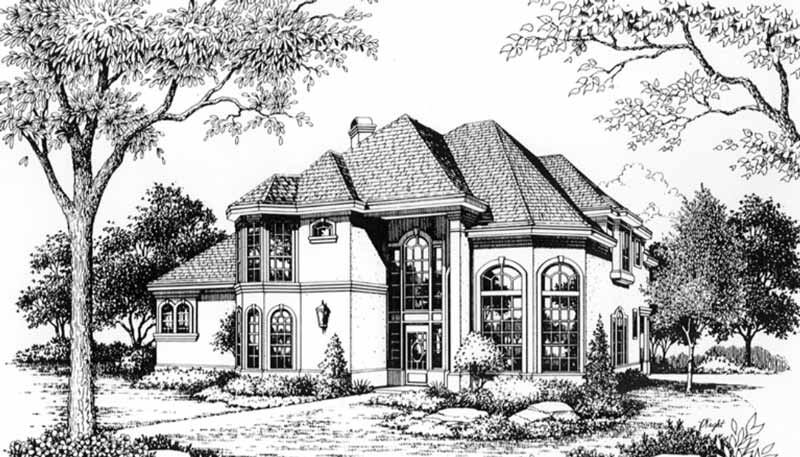 Two Story House Plan C6075