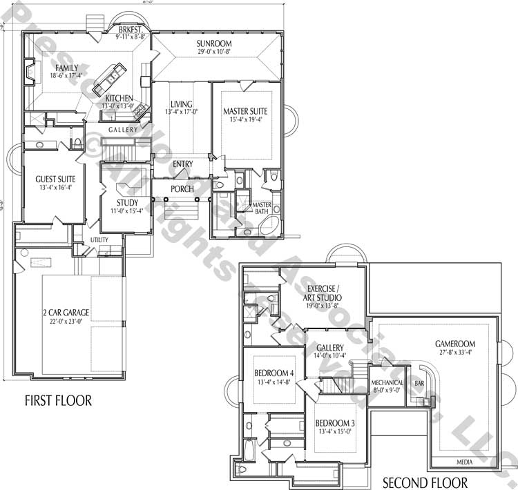 Two Story House Plan C9236