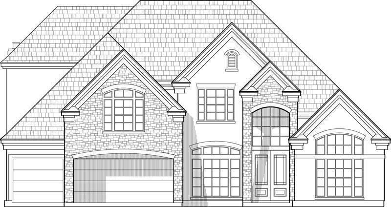 Two Story House Plan D1015