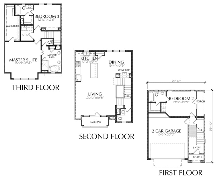 Townhouse Plan E2135 C1.1
