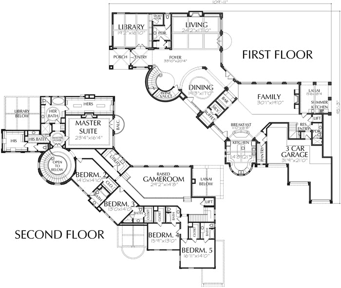 Two Story House Plan D7189