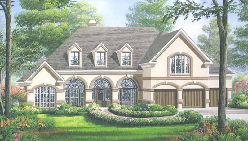 1 1/2 Story Home Plan D4081