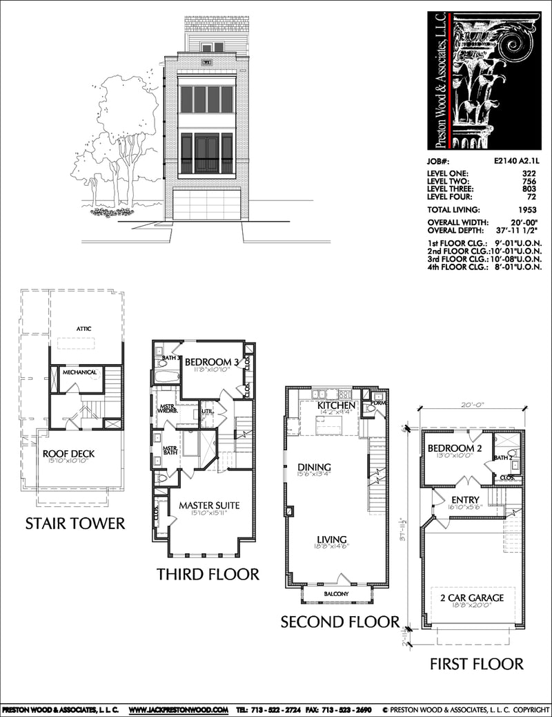 Townhouse Plan E2140 A2.1