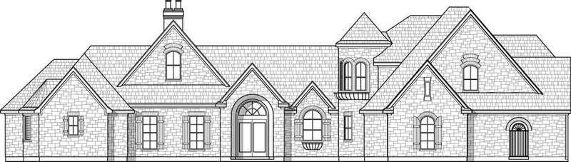 Two Story House Plan C7030