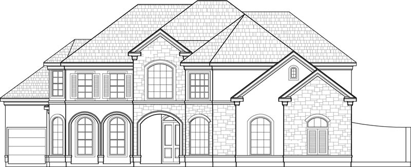 Two Story House Plan C7130