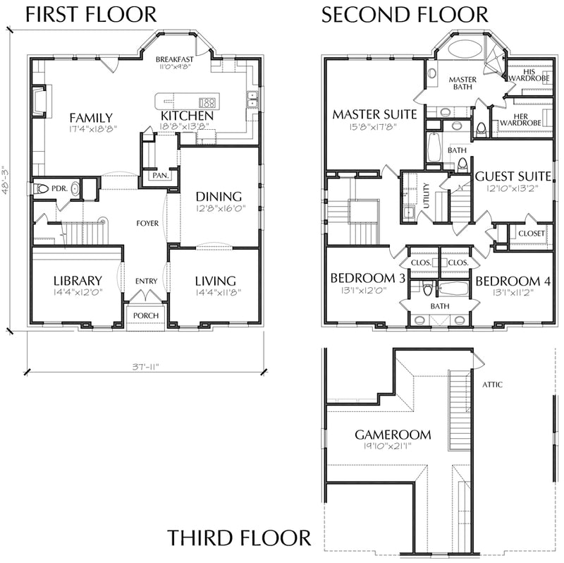 Urban House Plan C7020
