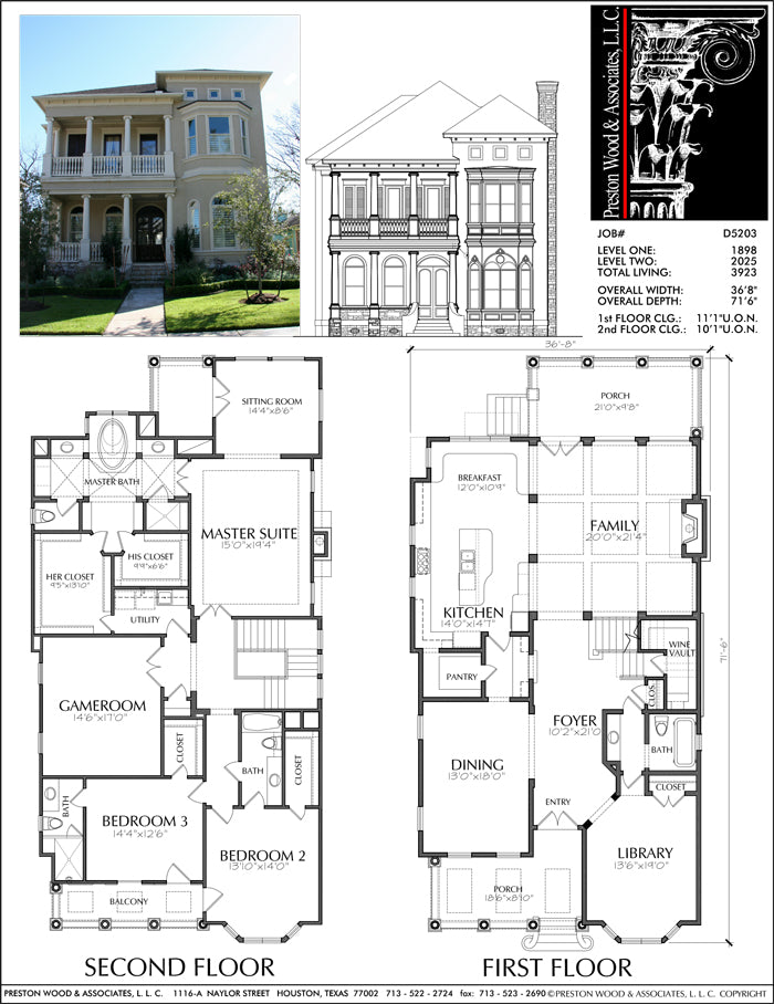 Urban House Plan D5203 3923