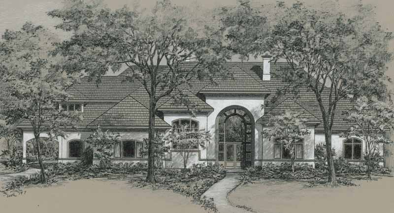 Country Style House Plan C7013