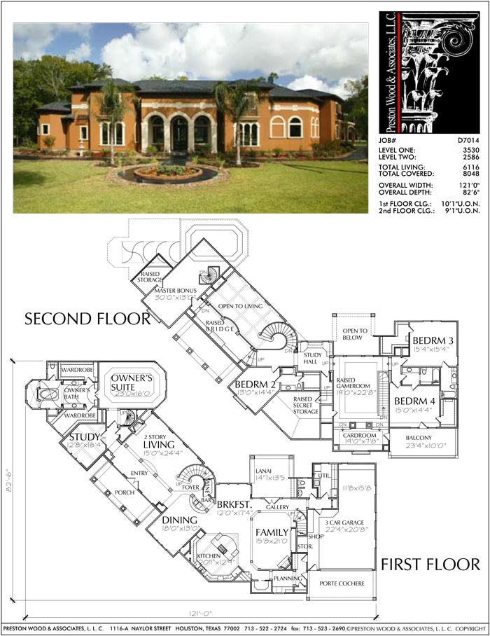 Two Story Home Plan D7014