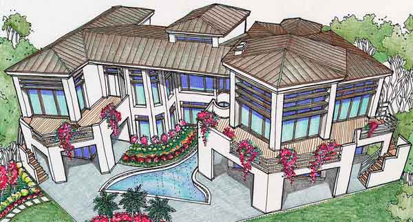Two Story Home Plan C6235