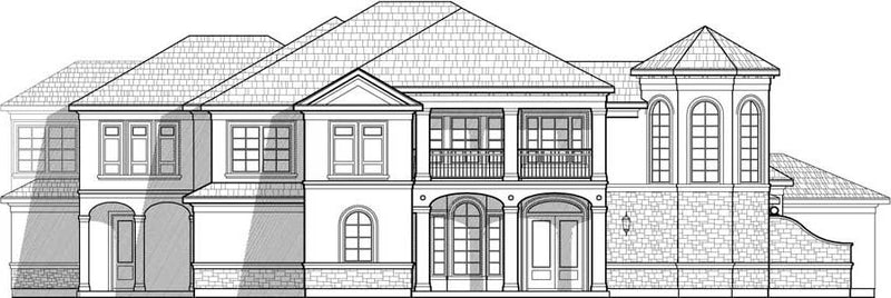 Two Story House Plan C9254