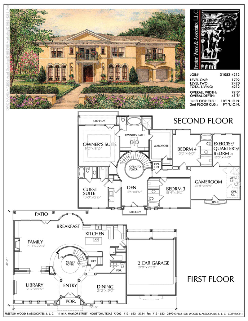 Two Story House Plan D1082