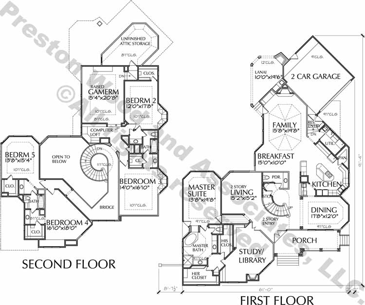 Two Story House Plan D6055