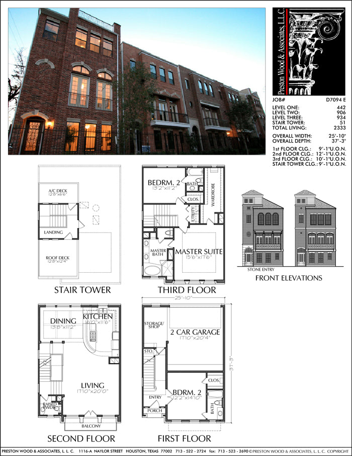 Townhouse Plan D7094 E