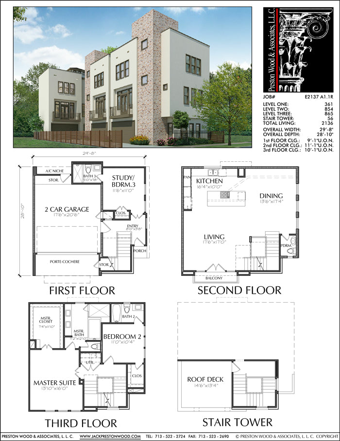 Townhouse Plan E2137 A1.1