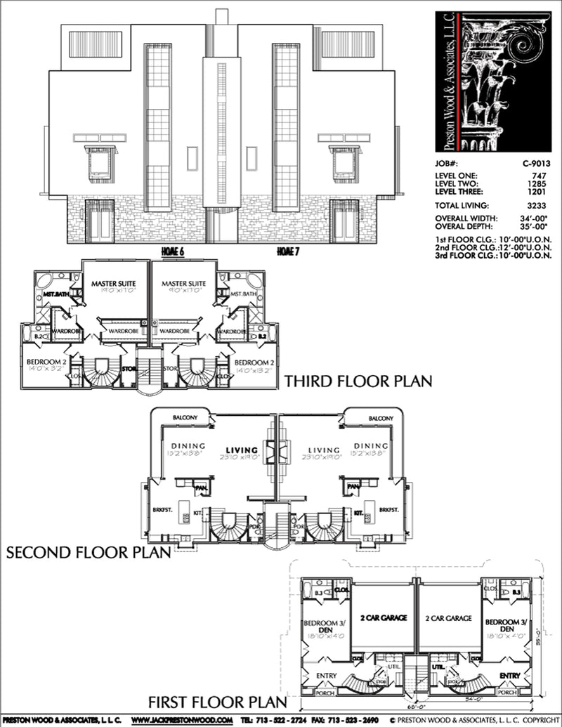 Duplex Townhouse Plan C9013 u6