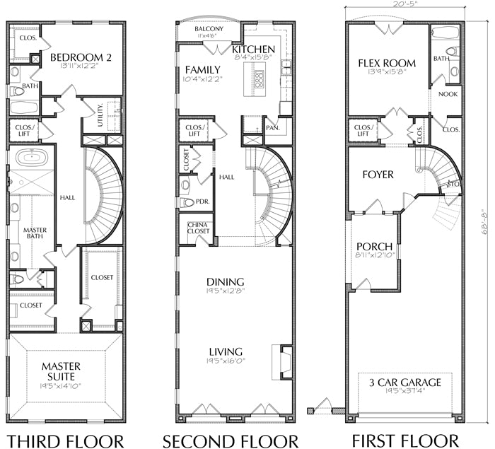 Townhouse Plan E1149 C