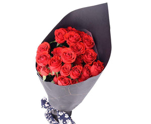 Melbourne Flower Delivery - Sweetheart Mini Spray Red Roses Bouquet - Melbourne Florist