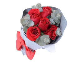 Passion Half Dozen Red Rose Bouquet-Rose Delivery Melbourne
