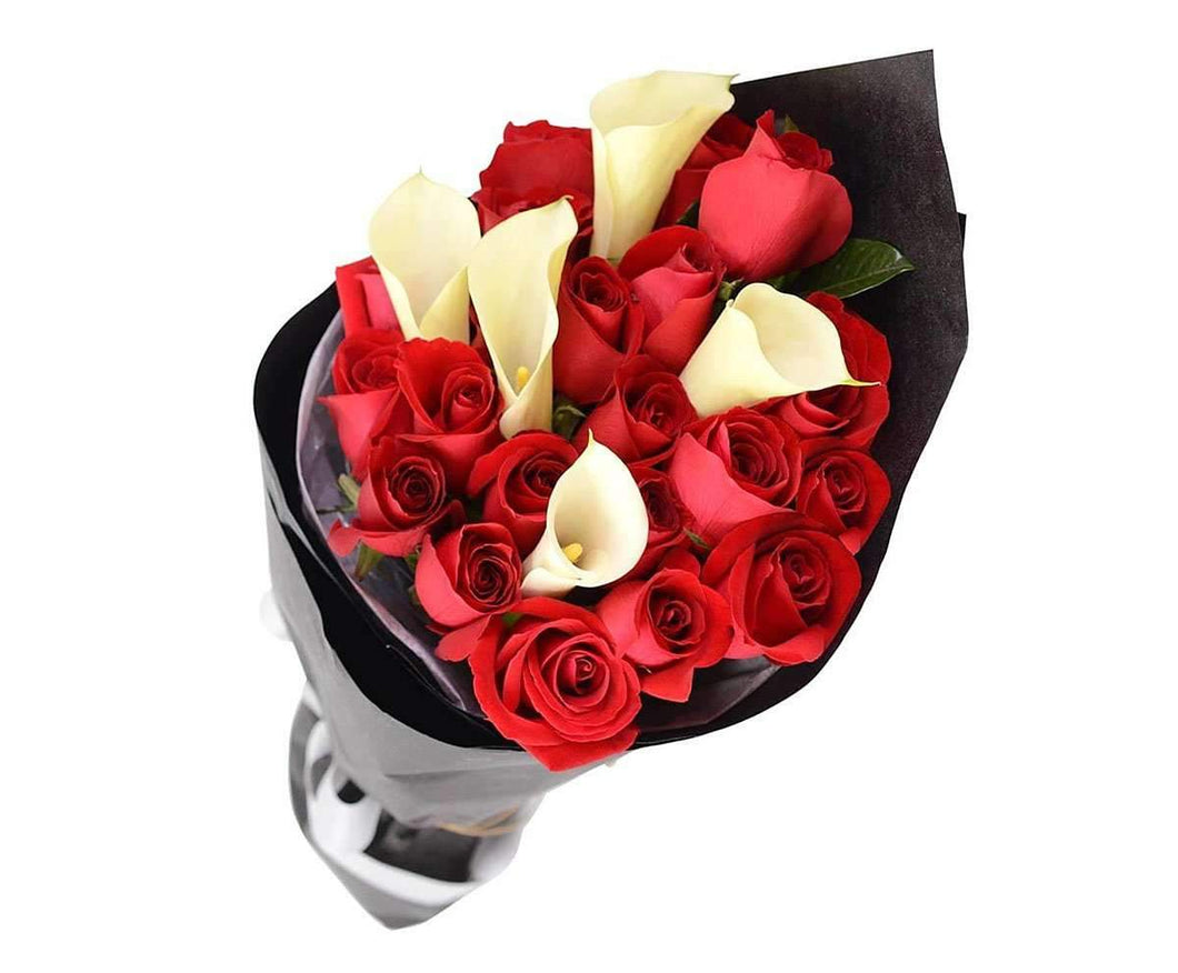 Sentiment red roses calla lily bouquet rose delivery melbourne melbourne flower delivery sentiment red roses white calla lily bouquet melbourne florist izmirmasajfo Gallery