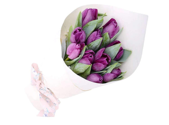Melbourne Flower Delivery - Simple Tulips Hand Bouquet - Melbourne Florist