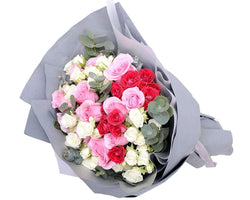 Melbourne Flower Delivery - Triple Exotic Roses Bouquet - Melbourne Florist