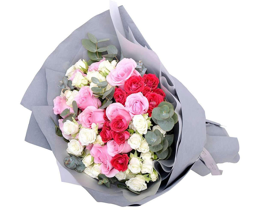 Triple exotic roses bouquet gift delivery melbourne melbourne flower delivery triple exotic roses bouquet melbourne florist izmirmasajfo