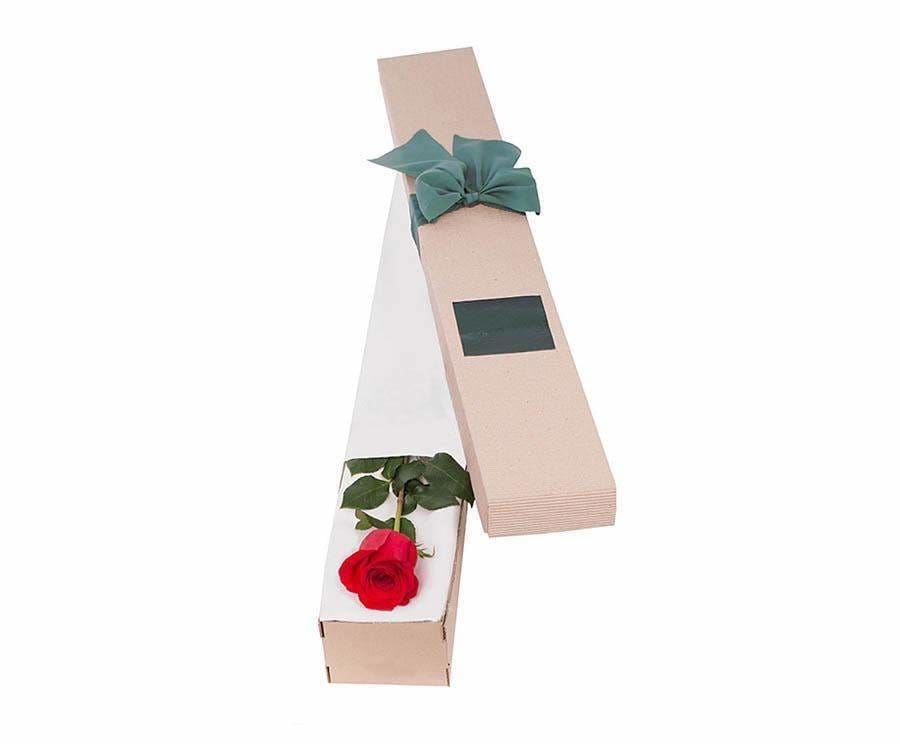 Affection Red Rose In Box - Single Rose - Flowers