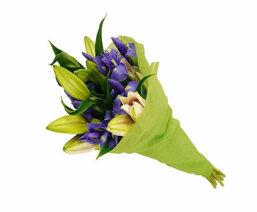 Breathtaking Lilies And Iris Bouquet - Flowers