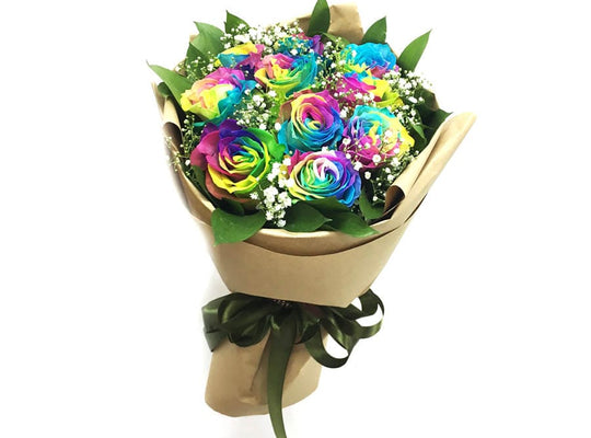 Superb Rainbow Roses Bouquet-Rainbow Rose Melbourne
