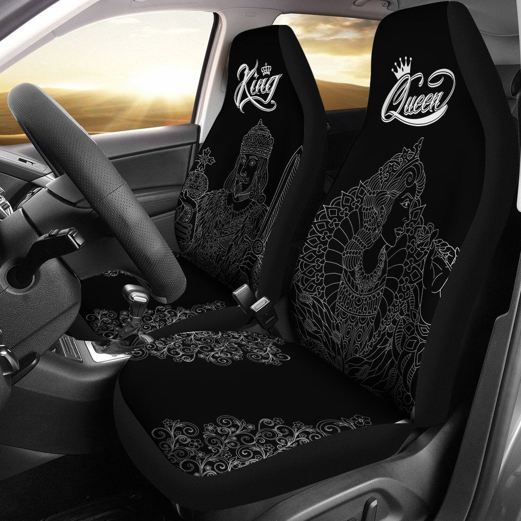 King Queen Car Seat Covers 2pcs