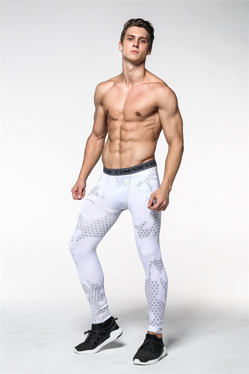 FLYFIRE Digital Snow Camo Compression Pants