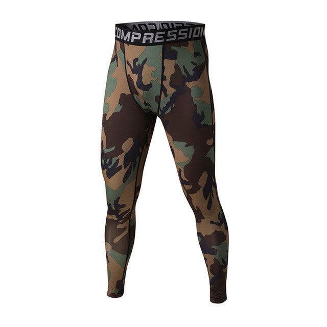 FLYFIRE Dark Army Camo Compression Pants