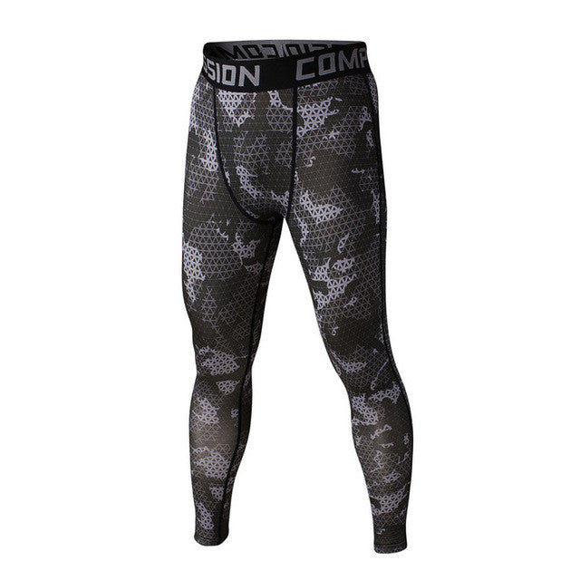 FLYFIRE Digital Black Camo Compression Pants
