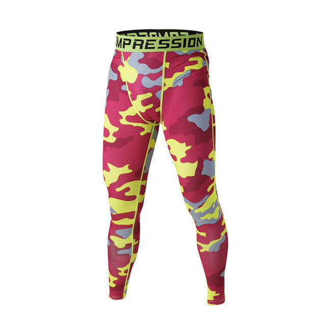 FLYFIRE Red Camo Compression Pants