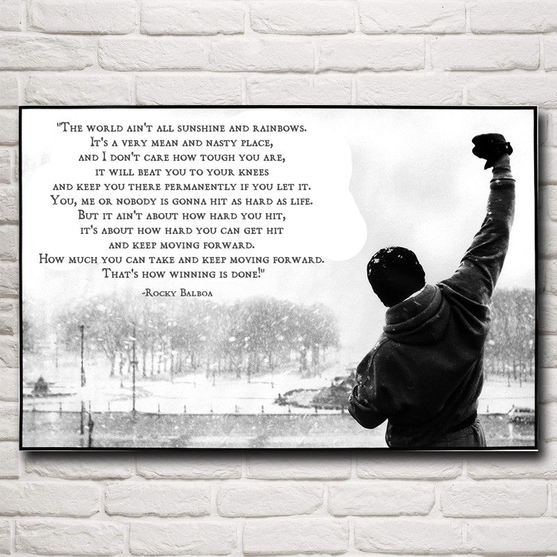 "Rocky Balboa ""How Winning is Done"" 36"" x 24"" Poster"