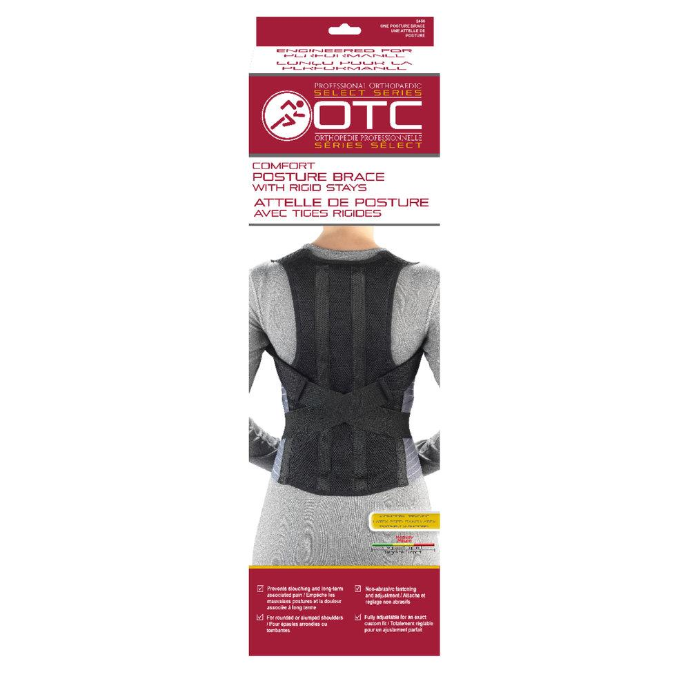 COMFORT POSTURE BRACE WITH RIGID STAYS