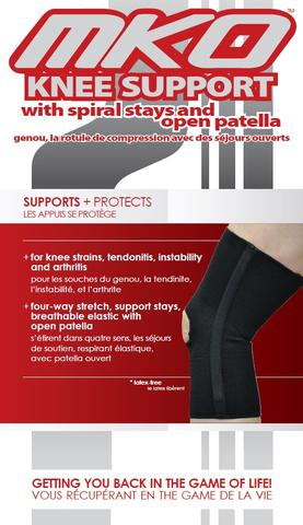 MKO KNEE SUPPORT SPIRAL STAYS WITH OPEN PATELLA