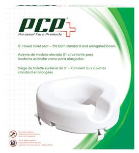 "5"" UNIVERSAL RAISED TOILET SEAT WITH LOCKING CLAMPS"