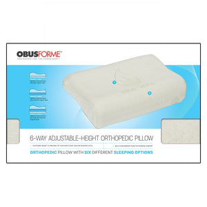 6-WAY ADJUSTABLE HEIGHT ORTHOPEDIC PILLOW