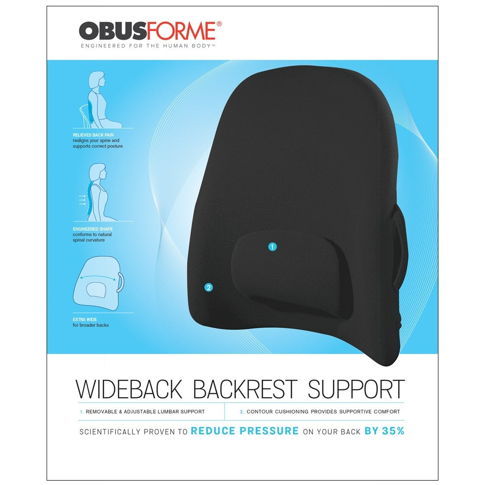 WIDE LOWBACK REST SUPPORT