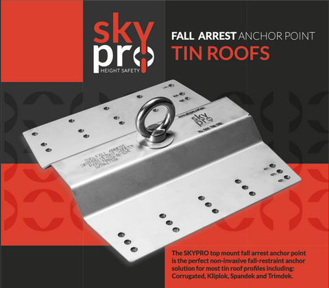 Fall Arrest Anchor Point - Tin Roofs