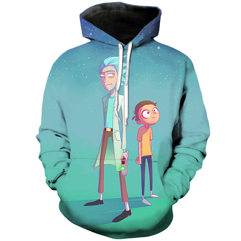 Smooth and starry | Rick and Morty 3D Printed Unisex Hoodies - RespawnWear