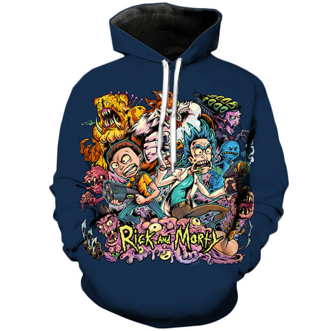 Infinite Amazing Universe | Rick and Morty 3D Printed Unisex Hoodies - RespawnWear