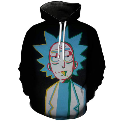 Psy Rick | Rick and Morty 3D Printed Unisex Hoodies - RespawnWear